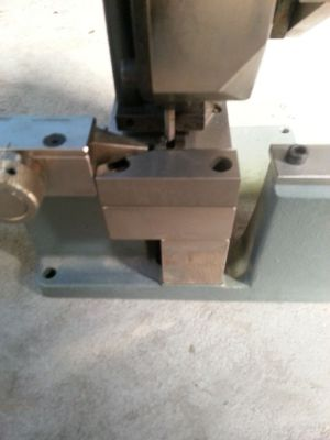 *SOLD* Double-lipper-cutter GNU DN 74 for up to 40 mm x 4 pt. rules