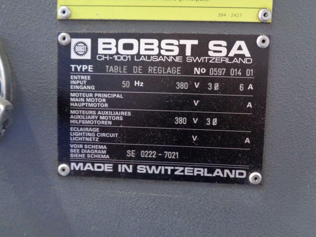 bobst 142 cer makeready table