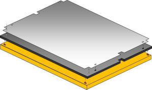 Die Cutting plates; 1.0 mm steel plates for die-cutter; for steel counter plates
