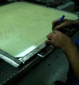 Vetronit: Placa portectora de la hoja de arreglo
