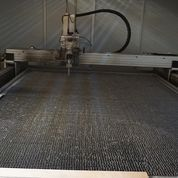 Water jet cutter for rubber